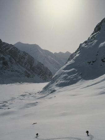 Ski Mountaineering above Brangkton Glacier in Kashmir, India Photographic Print by Gordon Wiltsie