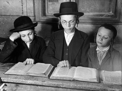 Children Learning in the Jewish Grade School Photographic Print by Margaret