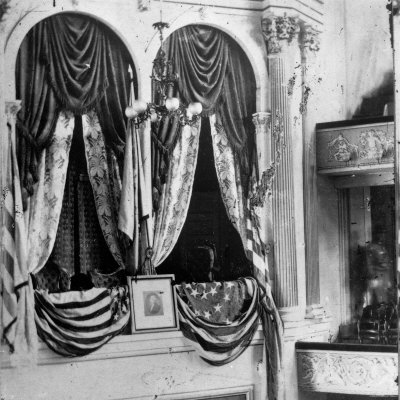 Private Box in Ford's Theater, Around Time President Lincoln Was Assassinated by John Wilkes Booth Photographic Print
