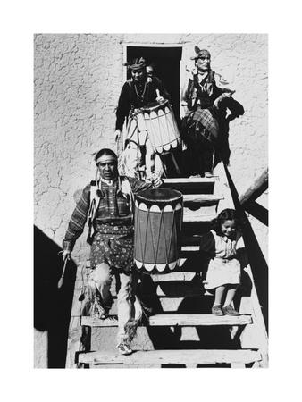 Dance, San Ildefonso Pueblo, New Mexico, 1942 Fotografická reprodukce