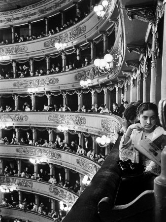 Audience in Elegant Boxes at La Scala Opera House Photographic Print by Alfred Eisenstaedt