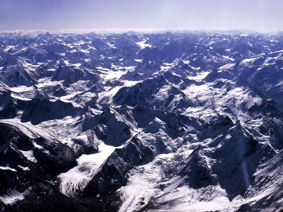 Aerial View of the Himalayas Photographic Print by James Burke