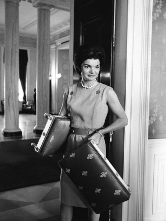 Jacqueline Kennedy in the Process of Redecorating the Blue Room of the White House Photographic Print by Ed Clark