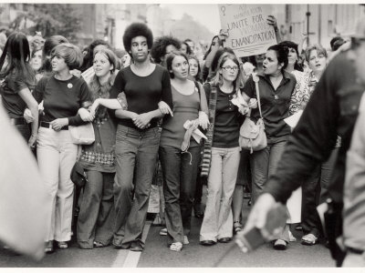 Parade Down Fifth Avenue on the 50th Anniversary of the Passage of the 19th Amendment Photographic Print by John Olson