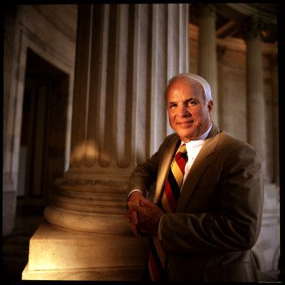 Senator John McCain at US Capitol Photographic Print by Ted Thai
