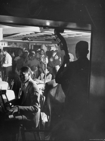 Jazz Orchestra in Harlem Club Photographic Print by Hansel Mieth