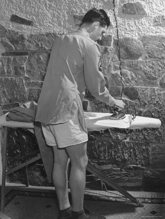 G.I. Ironing His Pants Photographic Print by John Florea