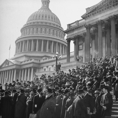 Jewish Rabbis March on Washington, on the Senate Steps Photographic Print by Thomas D. Mcavoy