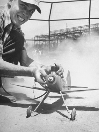 High School Student Holding His Model Plane Before Takeoff Photographic Print by Ed Clark