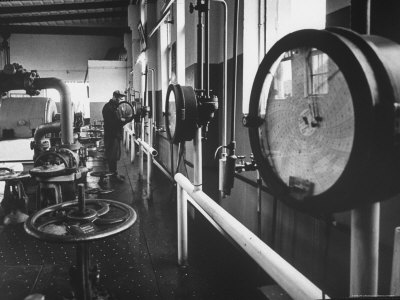 Central Pumping Station of the Ufa Refinery Photographic Print by James Whitmore