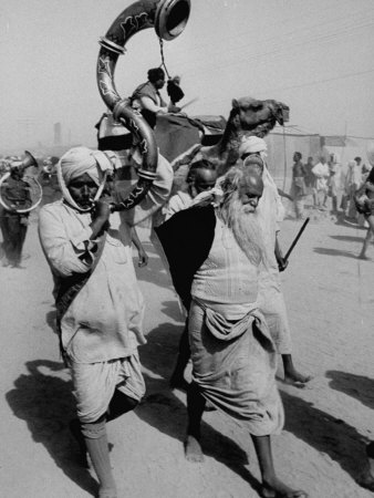 Pilgrims Gathering For Kumbh Mela, a Hindu Religious Celebration Photographic Print by James Burke