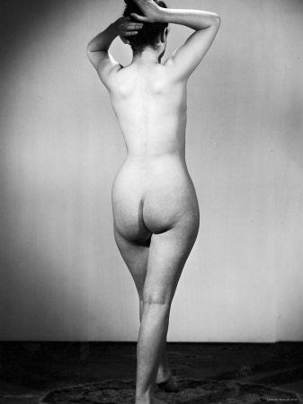 Nude Female Seen from the Back Premium Photographic Print