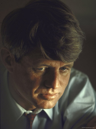 Pensive Portrait of Presidential Contender Bobby Kennedy During Campaign Photographic Print by Bill Eppridge
