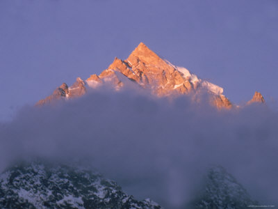 View of Himalayan Mountaintop Photographic Print by James Burke