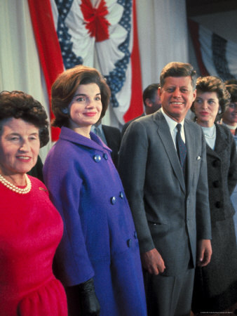 Rose Kennedy, Jackie Peter Behind Her on Morning After Election Day Photographic Print by Paul Schutzer