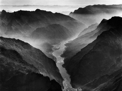 """The Yangtze River Passing Through the Wushan, or """"Magic Mountain"""", Gorge in Szechwan Province Photographic Print by Dmitri Kessel"""