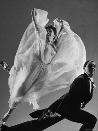 Tony and Sally Demarco, Ballroom Dance Team, Performing Photographic Print by Gjon Mili