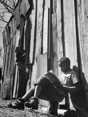 To Escape the Wrath of His Grandmother, Richard Wright Used to Sit Behind the Barn to Read Photographic Print by Ed Clark