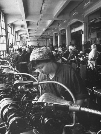 Women Working in the Watch Factory no.2 in Moscow Photographic Print by James Whitmore