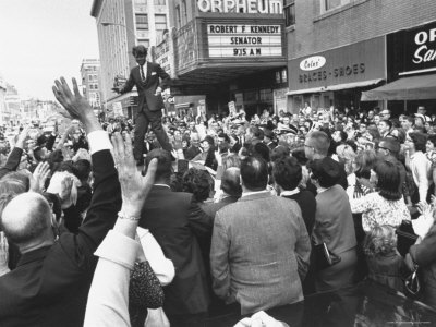 Senator Robert F. Kennedy Campaigning Photographic Print by Bill Eppridge