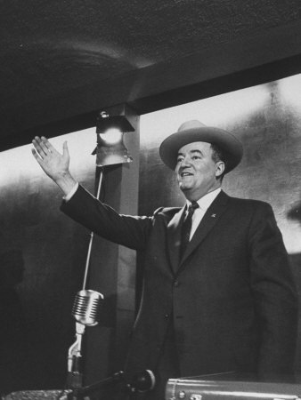 Senator Hubert H. Humphrey at the Western States Democratic Conference Photographic Print by Thomas D. Mcavoy