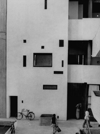 Punjab High Court Building, Designed by Le Corbusier Photographic Print by James Burke