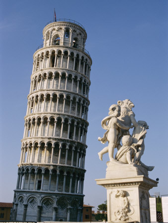 View of the Famous Leaning Tower of Pisa Photographic Print by Richard Nowitz