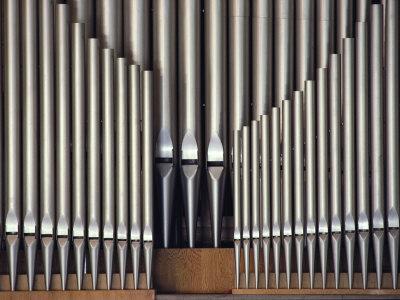 Three Rows of Organ Pipes Fotoprint av Kenneth Garrett