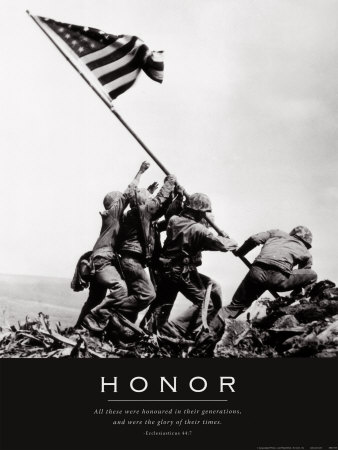 Honor: Iwo Jima Reproduction d'art