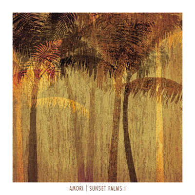 Sunset Palms I Art Print