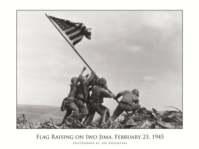 World War 2 Iwo Jima 1945 photo poster