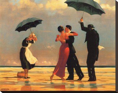 Singing Butler Stretched Canvas Print by Jack Vettriano
