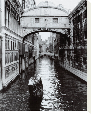 Venice Canal Stretched Canvas Print by Cyndi Schick