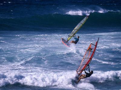 Windsurfing the Tradewinds, Hookipa, Maui, Hawaii, USA Photographic Print by Karl Lehmann