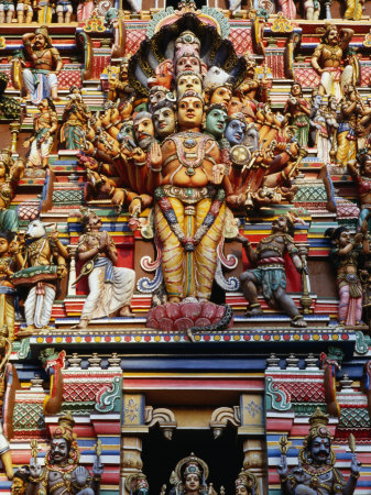 Highly Decorated Sri Lankan Hindu Temple or Kovils, Colombo, Western, Sri Lanka Photographic Print by Greg Elms