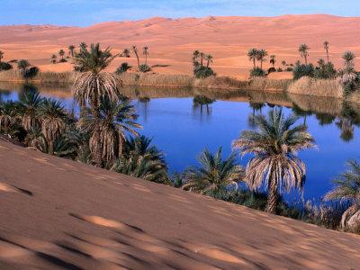 Umm Al-Miah- One of the Oasis Pools Part of the Dawada Lakes, Awbari, Libya Photographic Print by Doug McKinlay