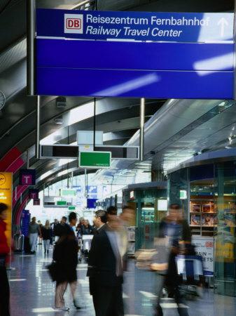 Railway Travel Center at Frankfurt Airport, Frankfurt-Am-Main, Hesse, Germany Photographic Print by Johnson Dennis