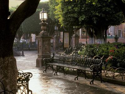 Early Morning, El Jardin, San Miguel de Allende, Mexico Photographic Print by Inger Hogstrom