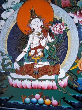 White Tara from Monastery Wall, Lhasa, Tibet Photographic Print by Vassi Koutsaftis