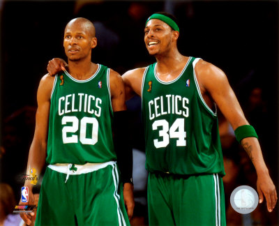 Paul Pierce & Ray Allen Game 4 of the 2008 NBA Finals Photo