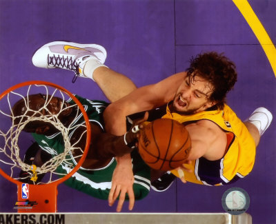 Pau Gasol, Game 3 of the 2008 NBA Finals; Action 11 Photo