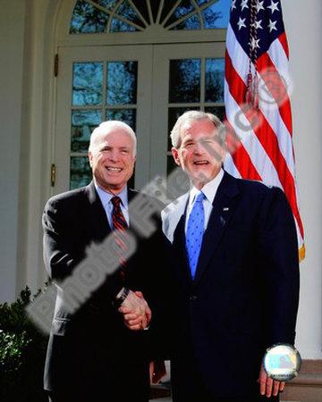 Senator John McCain & President George W. Bush at the White House March 5, 2008, Washington, DC Photo
