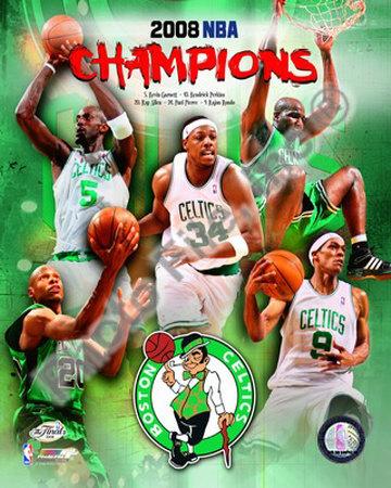 2007-08 Boston Celtics NBA Champions Photo