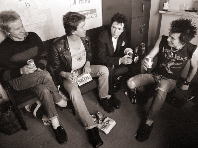 Sex Pistols: Paul Cook, Steve Jones, Sid Vicious and Johnny Rotten, March 1977 Photographic Print