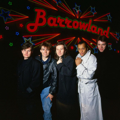 Simple Minds Pop Group Band Outside the Barrowlands in Glasgow Fotografisk tryk