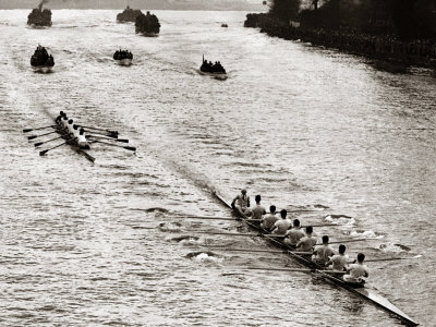 Rowing, Oxford V Cambridge Boat Race, 1928 Fotografiskt tryck