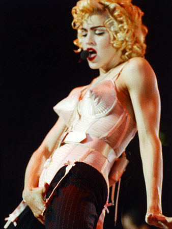 Madonna in the Conical Bra on the Blonde Ambition Tour, Wembley Stadium, 1990 Stampa fotografica