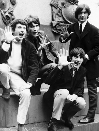 The Kinks Pop Group with Mick Avery, Pete Quaife, Dave Davies and Ray Davies, 1966 Fotografie-Druck