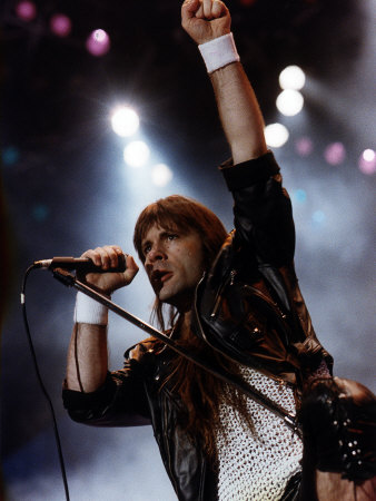 Bruce Dickinson Who was the Former Lead Singer for Iron Maiden the Heavy Metal Group Fotografie-Druck