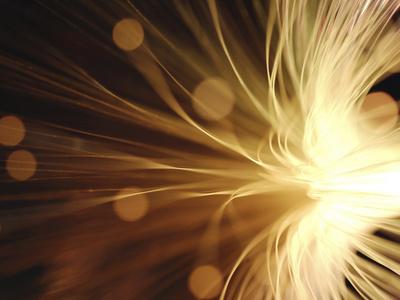 Fiber Optic Wires in Light Fotografisk tryk